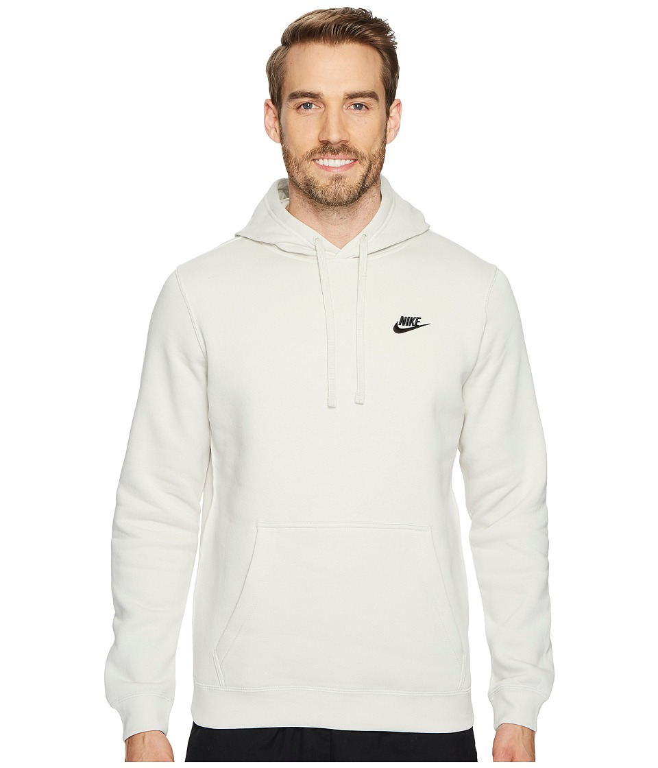 Nike Club Fleece Pullover Hoodie (Light Bone/Light Bone/Black) Men
