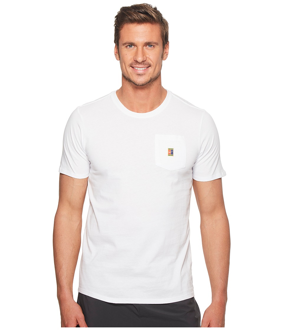 Nike Court Heritage Pocket Tennis T-Shirt (White) Men