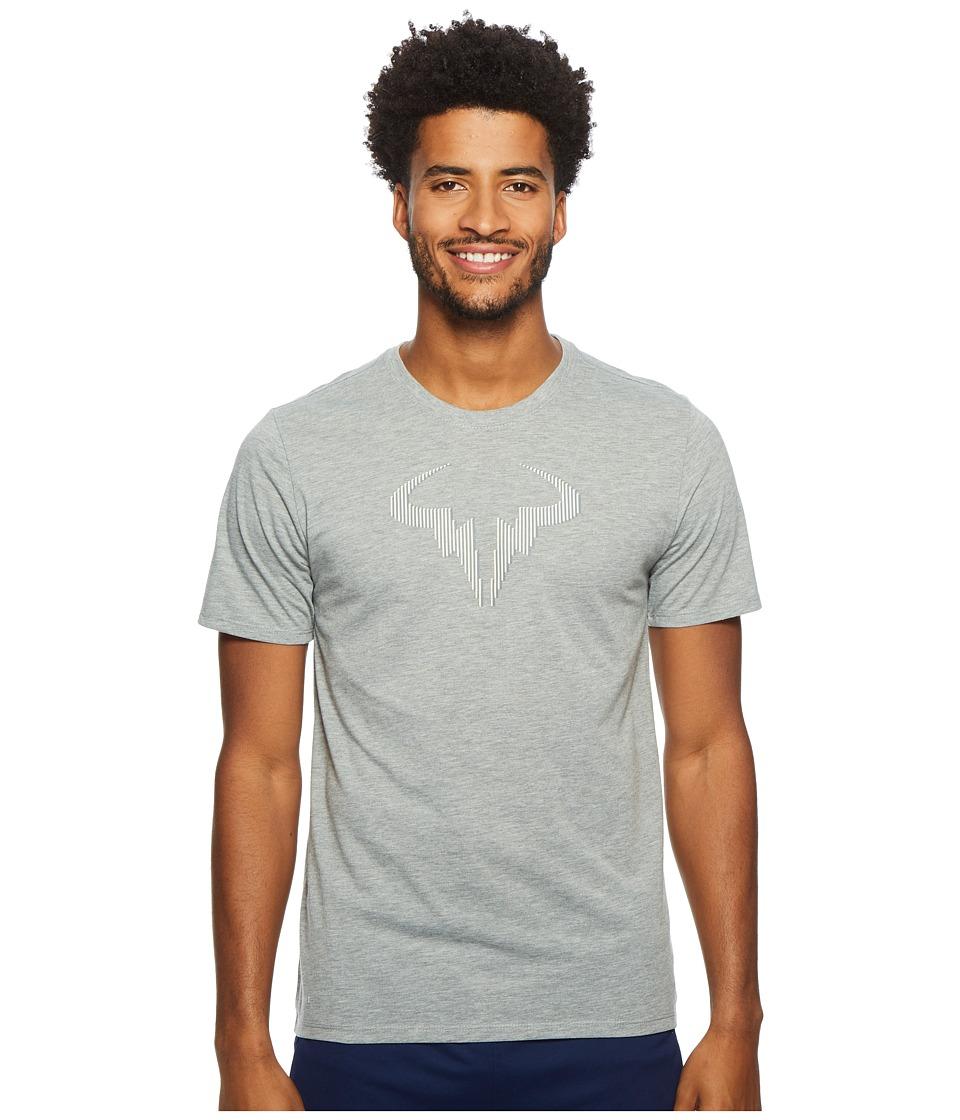 Nike Court Rafa T-Shirt (Dark Grey Heather/Black/Black) Men