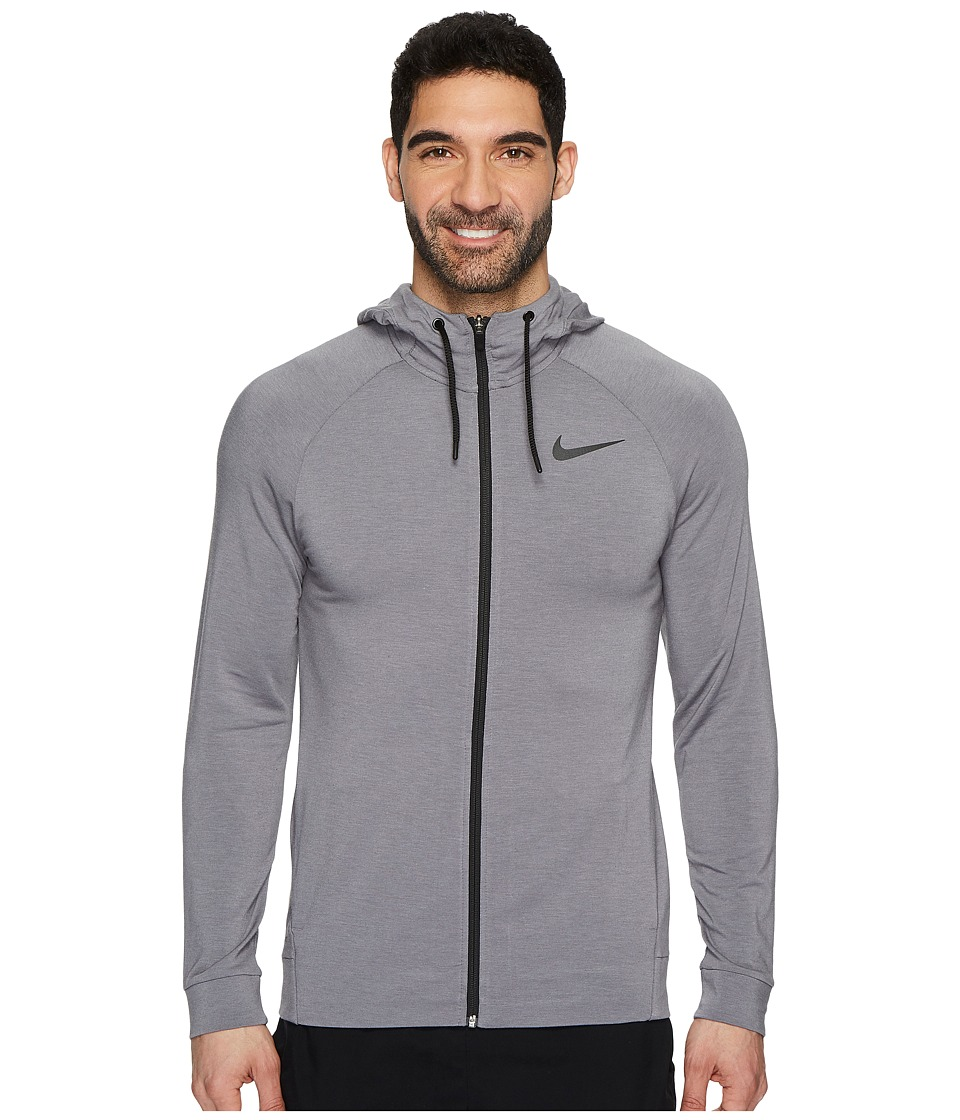 Nike Dri-FIT Full-Zip Training Hoodie (Gunsmoke/Black/Vast Grey/Black) Men