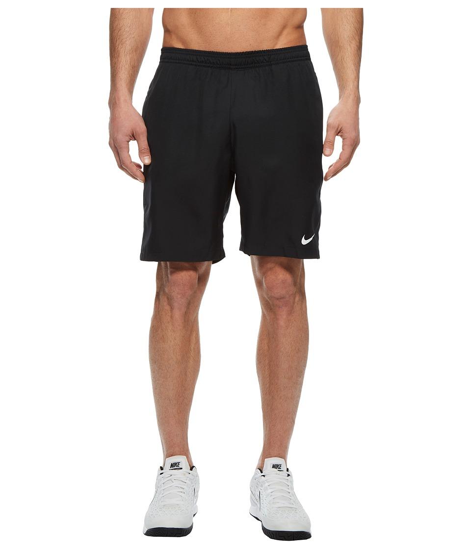 Nike Court Dry 9 Tennis Short (Black/Black/Black/White) Men