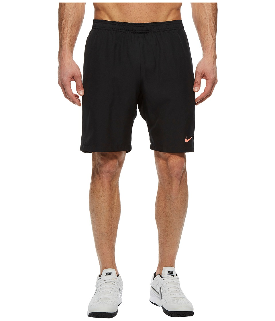 Nike Court Dry 9 Tennis Short (Black/Lava Glow/Lava Glow) Men