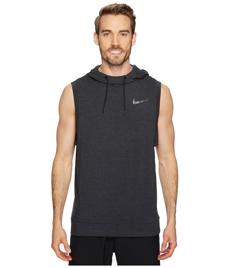 Nike - Dry Training Pullover Sleeveless Hoodie (Black/Black/White/Metallic Hematite) Mens Sweatshirt