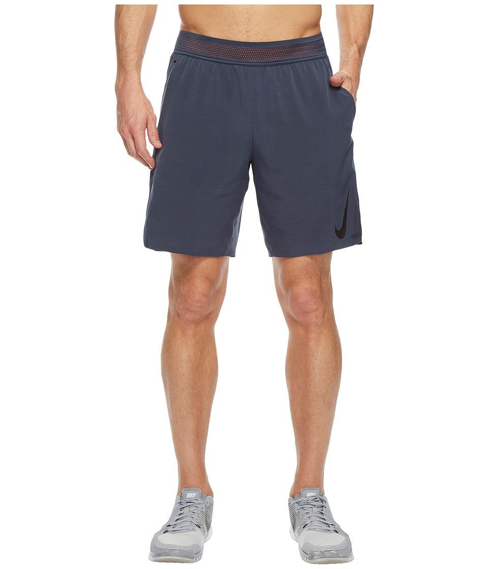 Nike Flex 8 Training Short (Thunder Blue/Hyper Crimson/Black) Men