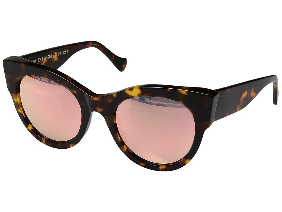 Super - Noa 54mm (Burnt Havana/Peach) Fashion Sunglasses