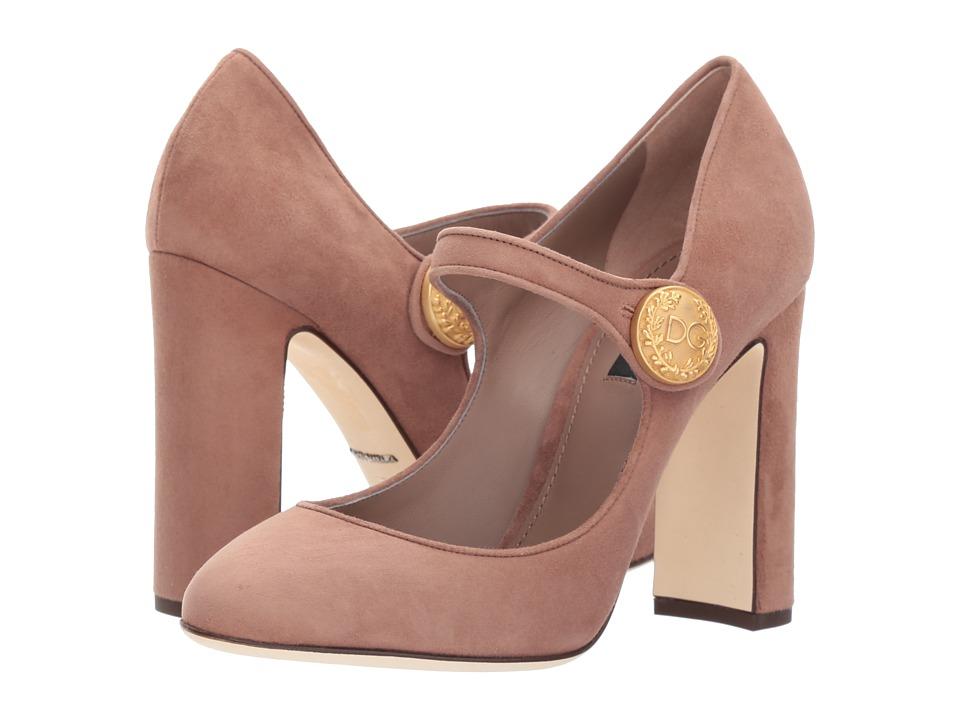 Dolce & Gabbana Mary Jane Pump 105mm (Mocha) High Heels