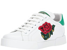 Dolce & Gabbana Sneaker with Sequin Rose