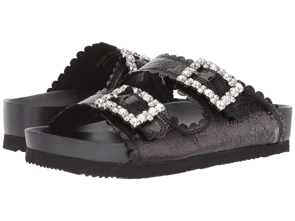 Suecomma Bonnie - Jewel Buckles Flat Sandals (Black/Multi 1) Womens Sandals