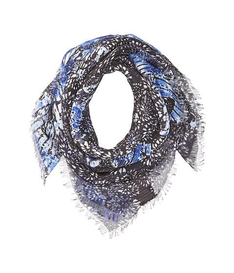 Vince Camuto Vintage Hand Dye Bandana - Black/Blue