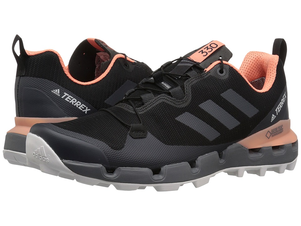 adidas Outdoor - Terrex Fast GTX-Surround (Black/Grey Five/Chalk Coral) Womens Shoes