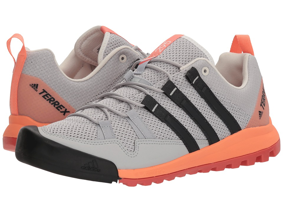 adidas Outdoor - Terrex Solo (Grey Two/Carbon/Chalk Coral) Womens Shoes