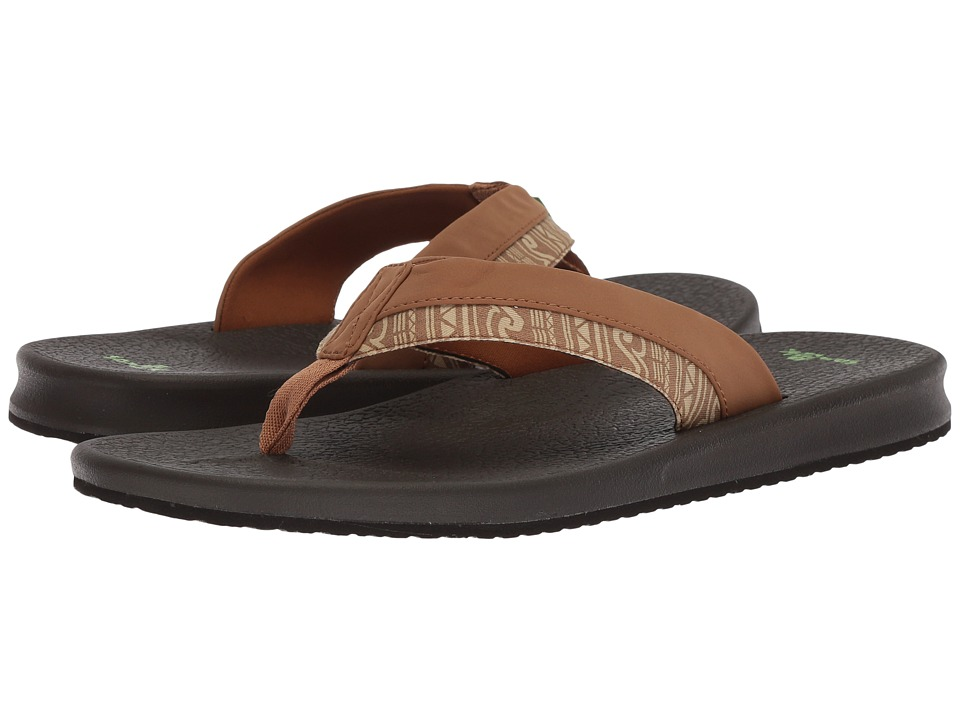 Sanuk - Brumeister Funk (Tobacco Wave) Men's Sandals