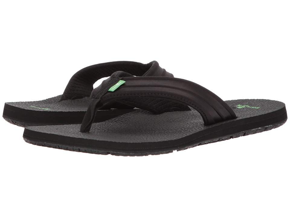 Sanuk - Land Shark (Black) Men's Sandals