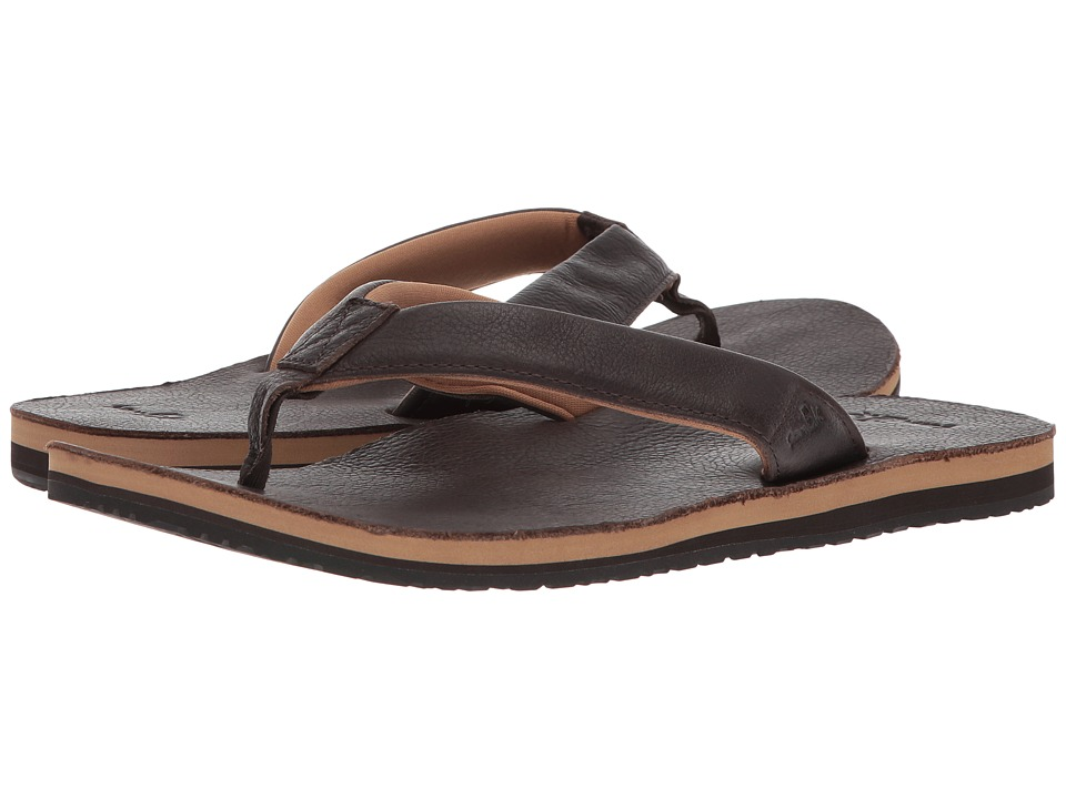 Sanuk - John Doe 2 (Dark Brown) Men's Sandals