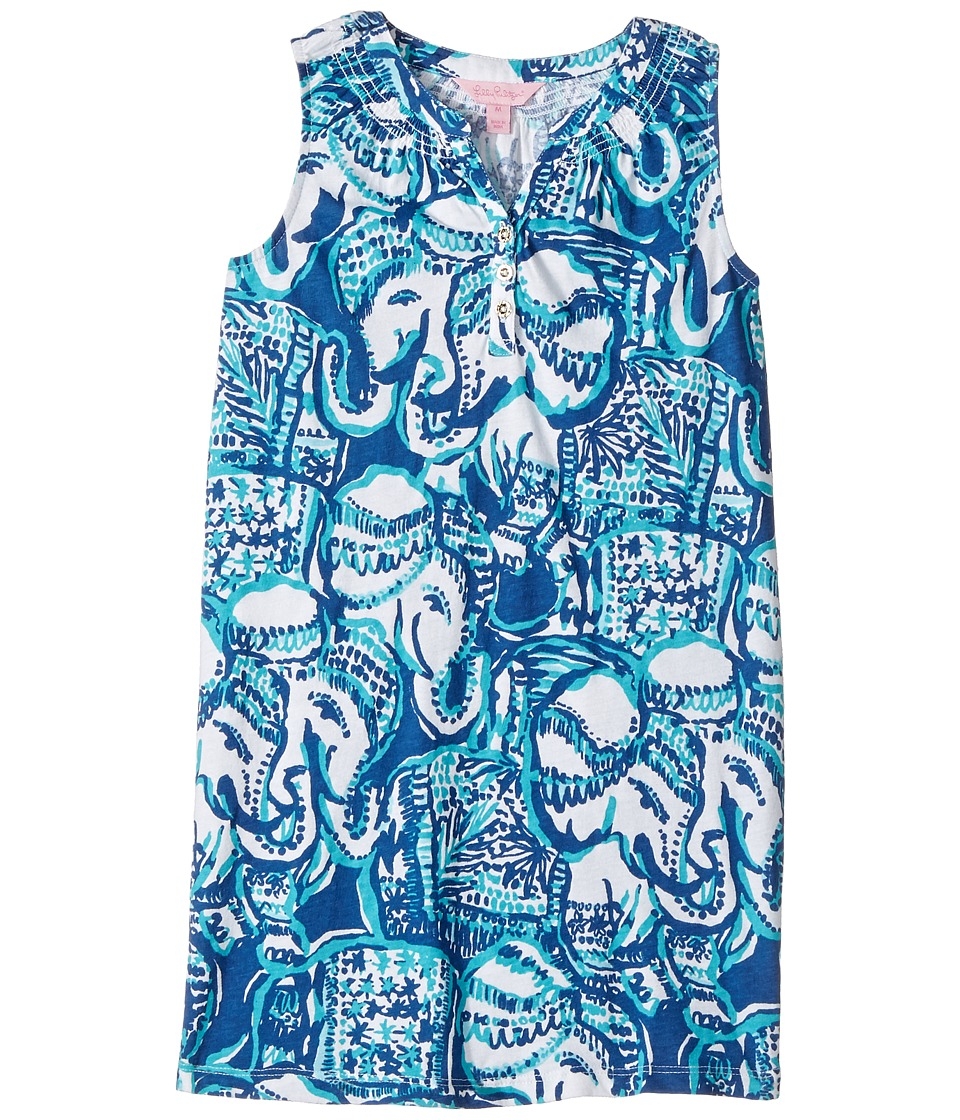 Lilly Pulitzer Kids Mini Essie Dress (Toddler/Little Kids/Big Kids) (Indigo Keep On Trunkin) Girl