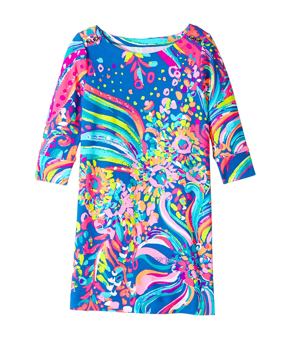 Lilly Pulitzer Kids UPF 50+ Mini Sophie Dress (Little Kids/Big Kids) (Multi Beach Loot) Girl
