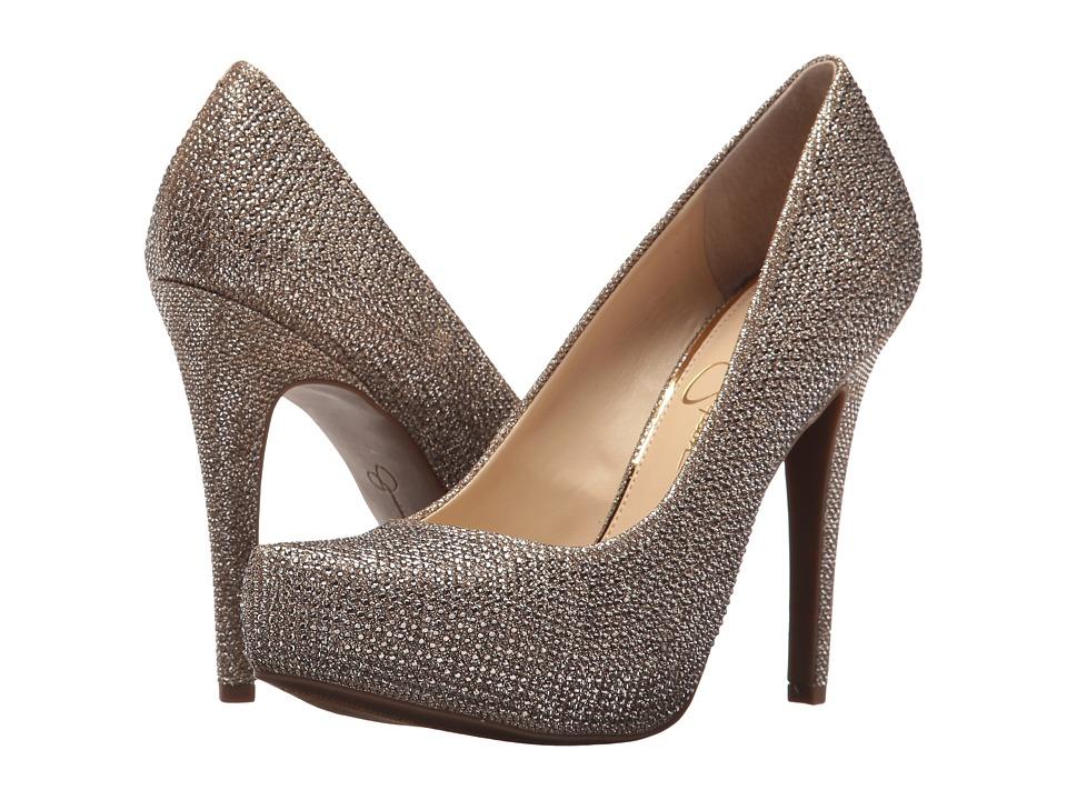 Jessica Simpson - Parisah 2 (Gold Jessica Simpson Sparkle Mesh) Womens Shoes
