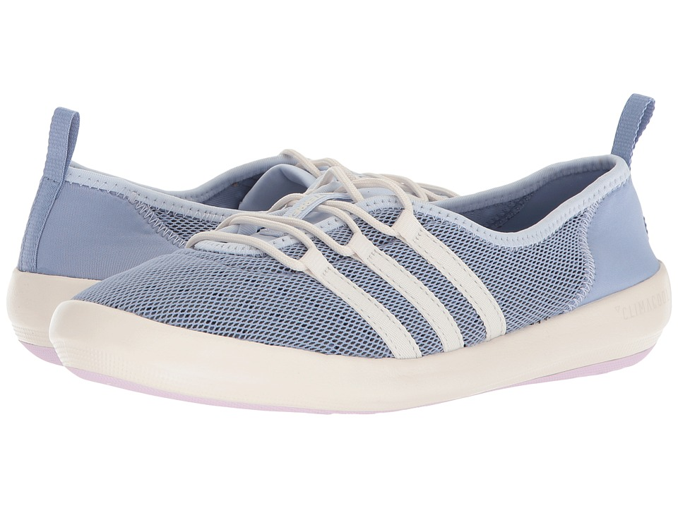 adidas Outdoor Terrex CC Boat Sleek (Chalk Blue/Chalk White/Aero Pink) Women's Shoes