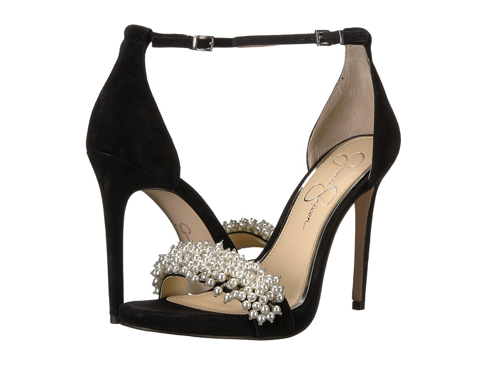 Jessica Simpson - Rusley (Black Luxe Kid Suede) Womens Shoes