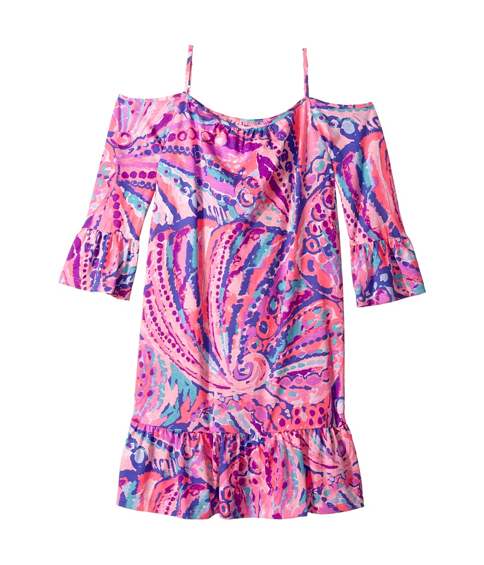 Lilly Pulitzer Kids Mini Alanna Dress (Toddler/Little Kids/Big Kids) (Colony Coral Shell Out) Girl