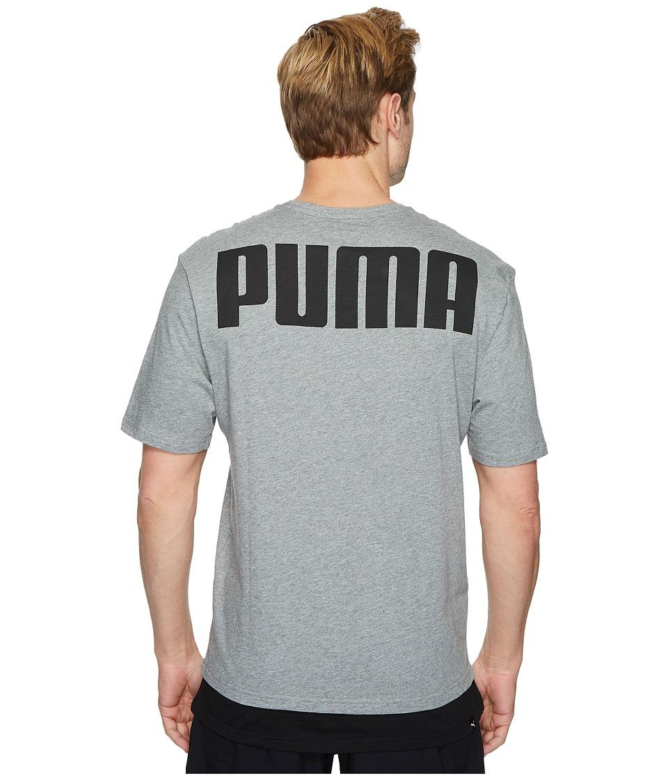 PUMA Rebel Tee (Medium Gray Heather) Men