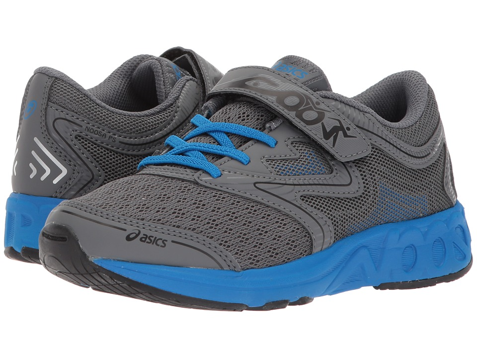 ASICS Kids - Noosa PS (Toddler/Little Kid) (Carbon/Blue/Black) Boys Shoes