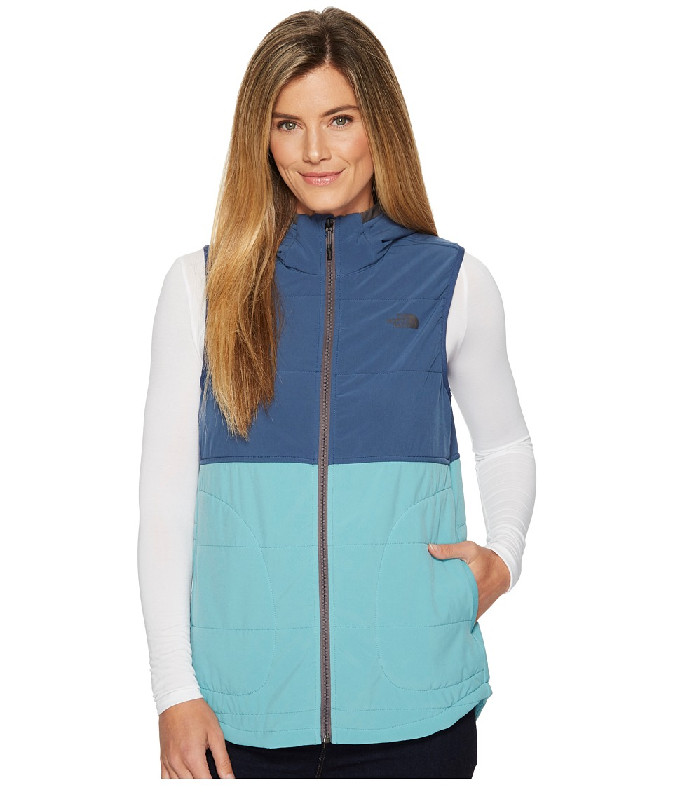 North Face Mountain Sweatshirt Hooded Vest (Bristol Blue/...