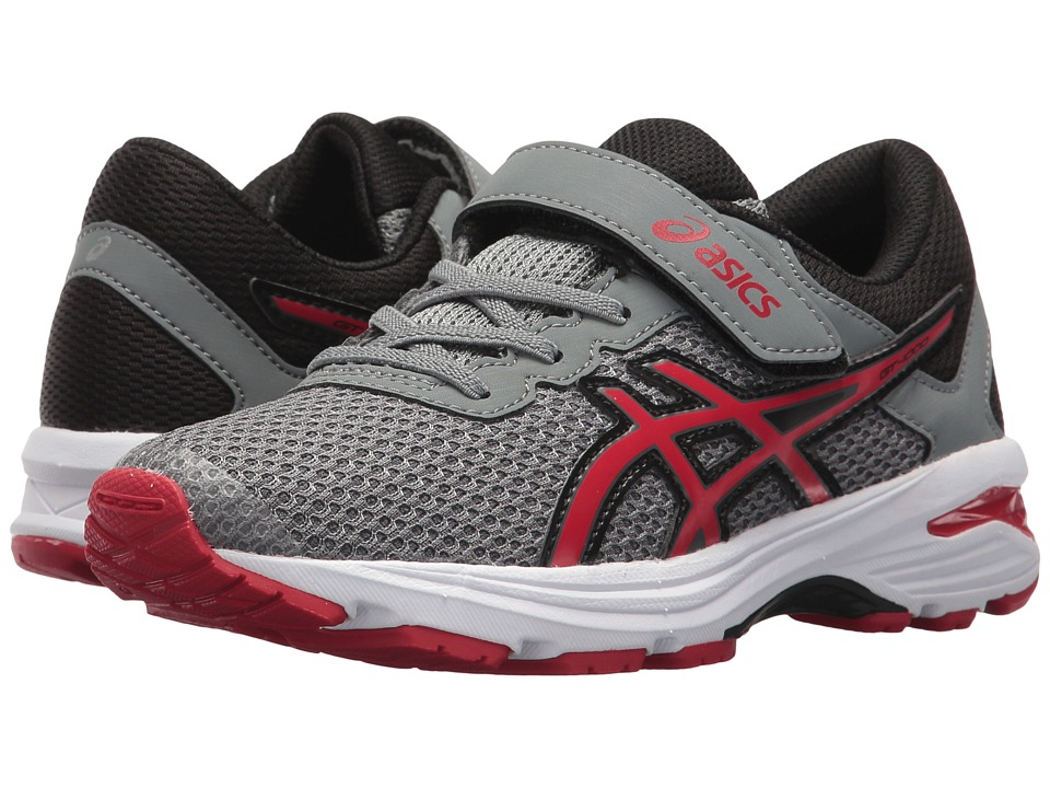 ASICS Kids - GT-1000 6 PS (Toddler/Little Kid) (Stone Grey/Classic Red/Black) Boys Shoes