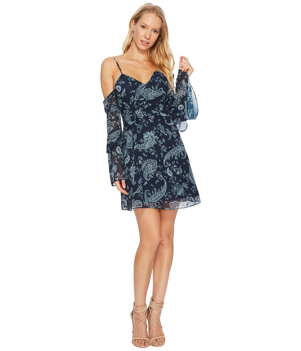 KEEPSAKE THE LABEL Go With It Mini Dress (Navy Paisley) Women