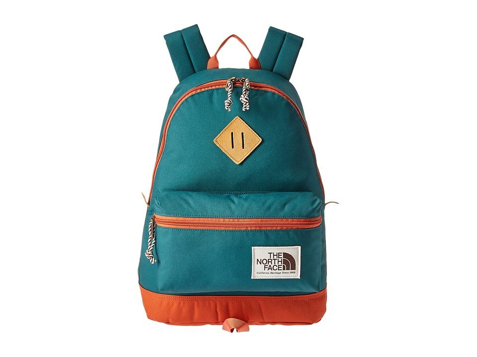The North Face - Berkeley Backpack (Jasper Green/Weathered Orange) Backpack Bags