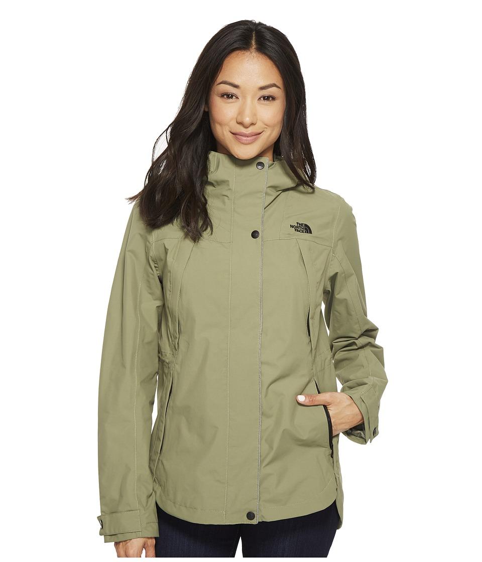The North Face Ditmas Rain Jacket (Deep Lichen Green) Women