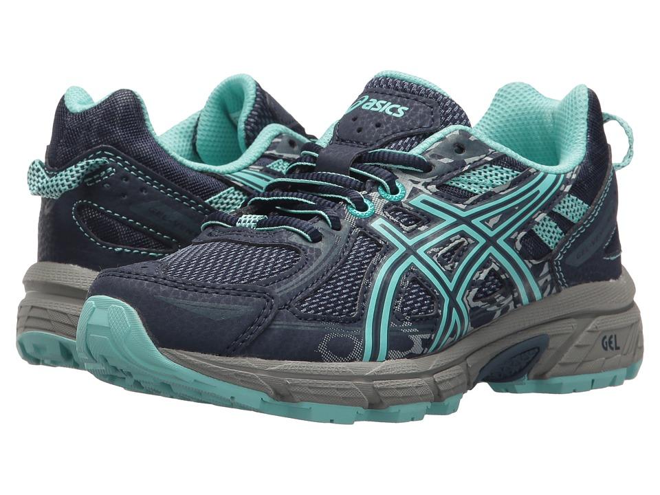 ASICS Kids - GEL-Venture 6 GS (Little Kid/Big Kid) (Indigo Blue/Aruba Blue/Mid Grey) Girls Shoes