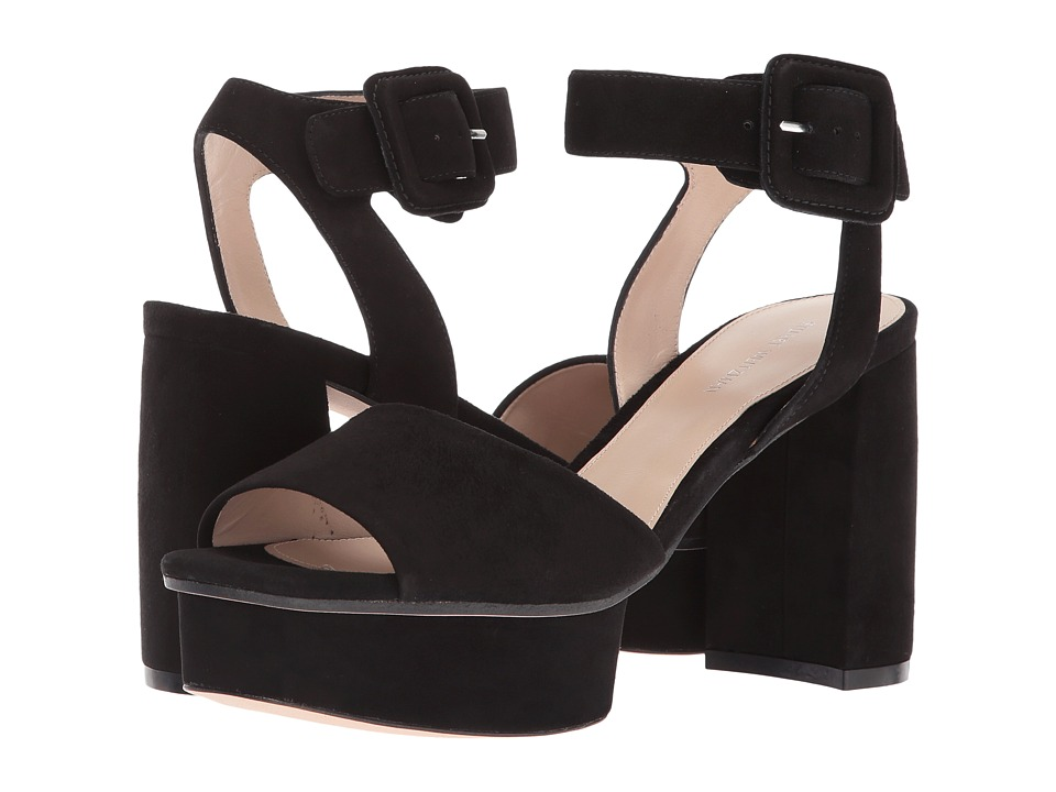 Stuart Weitzman Newdeal (Black Suede) Women's Shoes