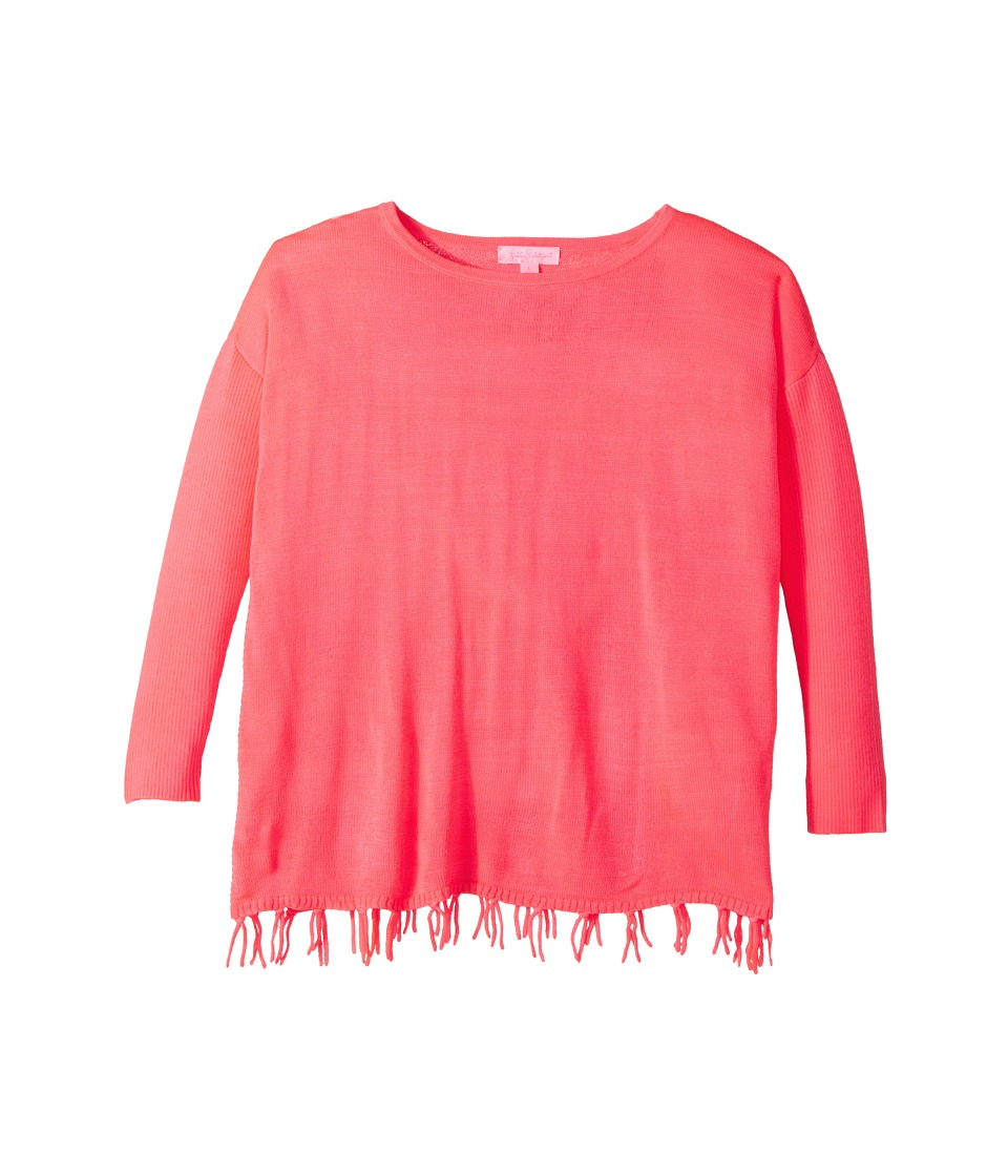 Lilly Pulitzer Kids - Mini Ramona Sweater (Little Kids/Big Kids) (Colony Coral) Girls Sweater