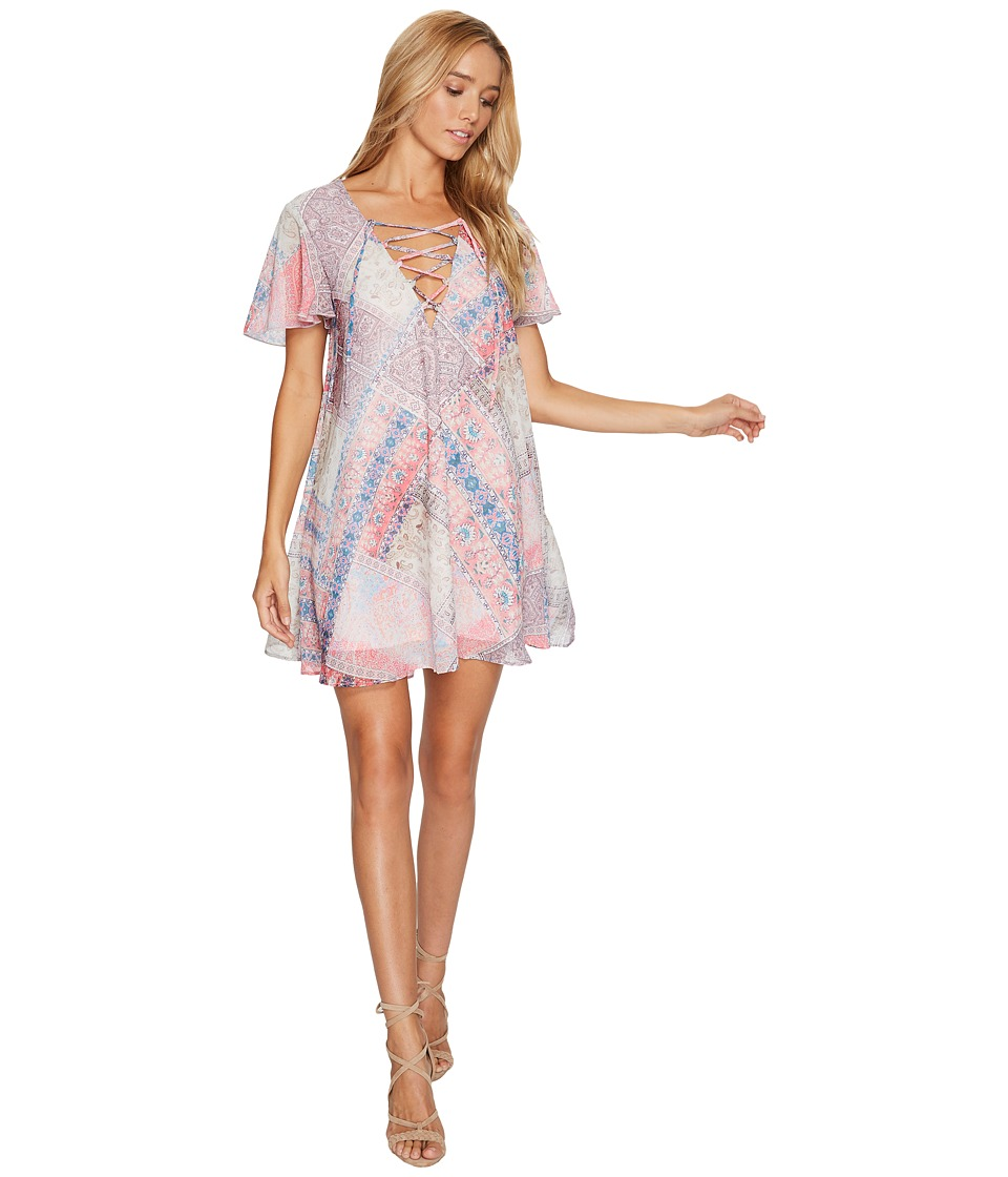 Show Me Your Mumu Kylie Lace-Up Dress (Pretty in Patch) Women