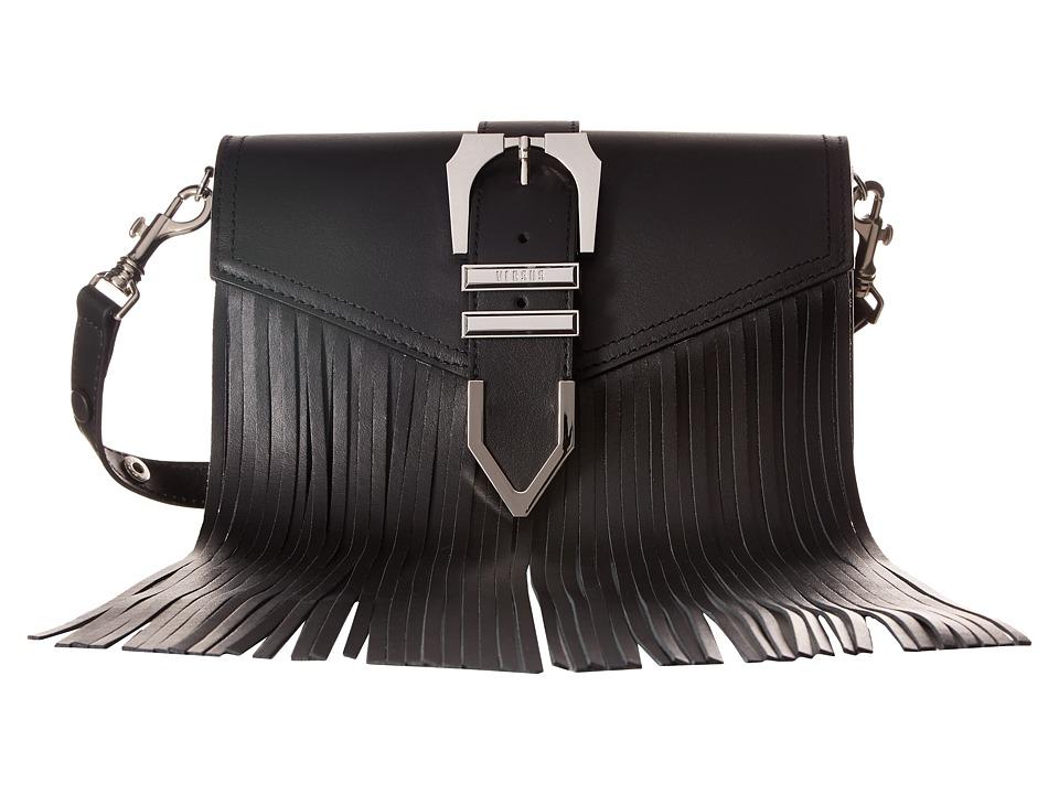 Versus Versace - Clutch+Fringes Vitello Opaco (Black/Nickel) Clutch Handbags