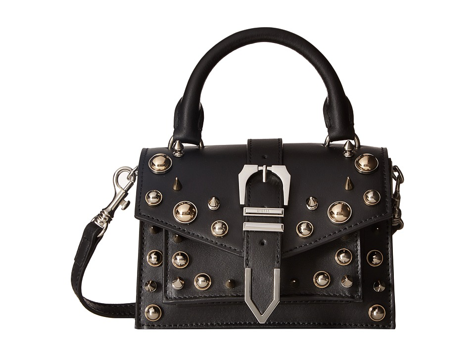 Versus Versace - Mini Top-Handle+Studs Vitello Opaco (Black/Nickel) Handbags
