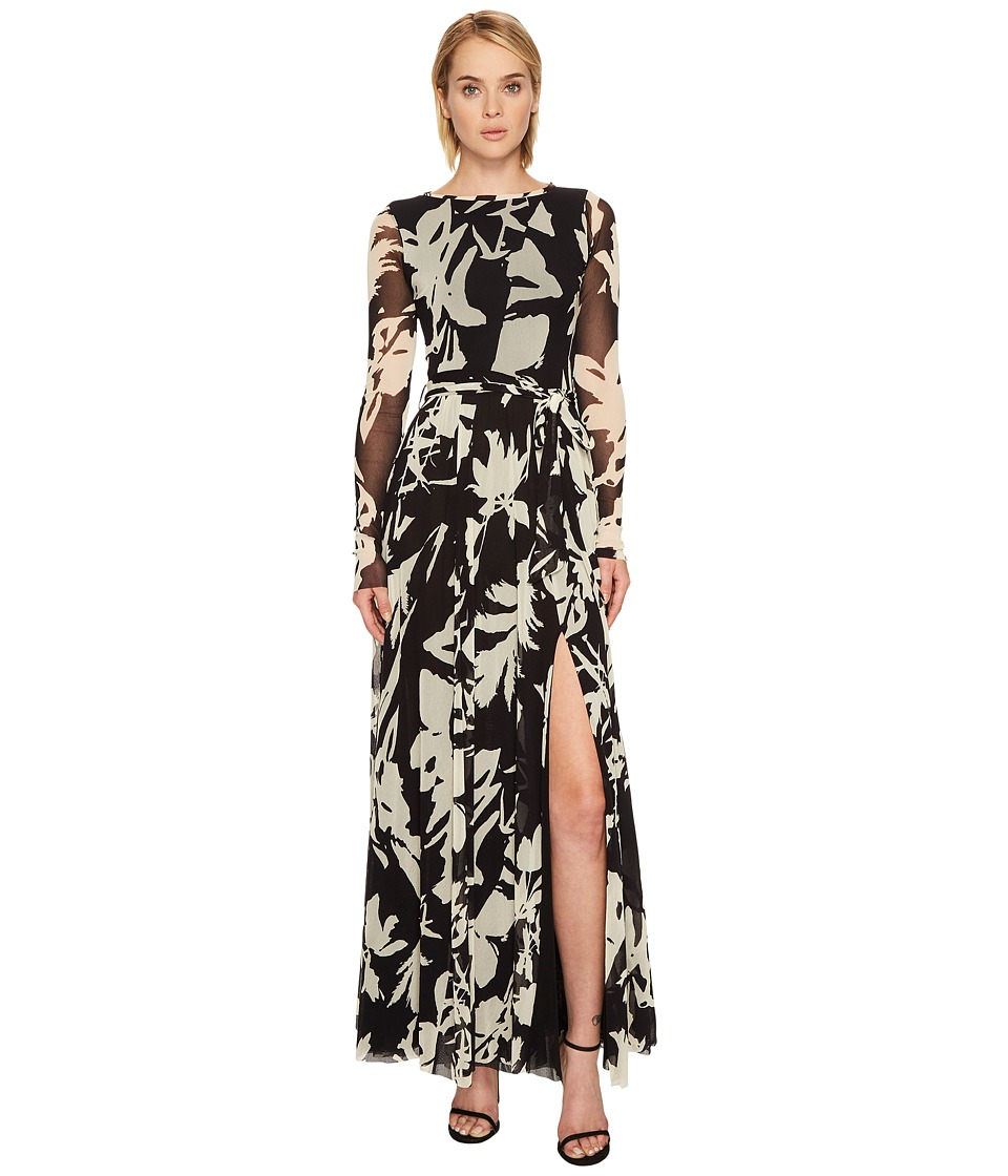 FUZZI - Long Sleeve Gown with High Slit Cover-Up