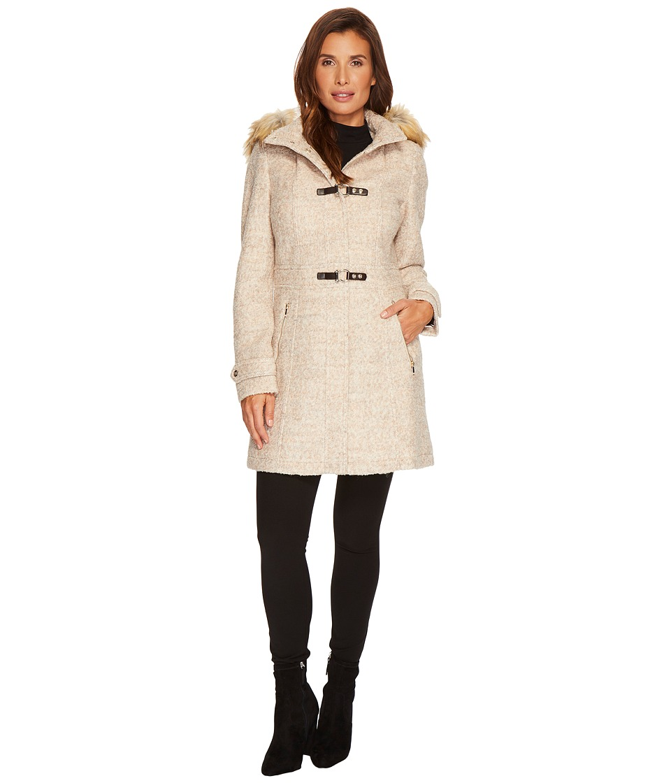 Ivanka Trump - Boucle Toggle Wool w/ Faux Fur