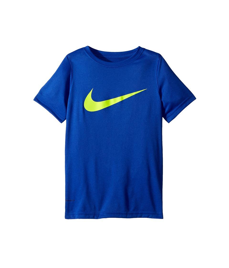 Nike Kids - Dry Short Sleeve Training T-Shirt (Little Kids/Big Kids) (Hyper Royal/Volt) Boys T Shirt
