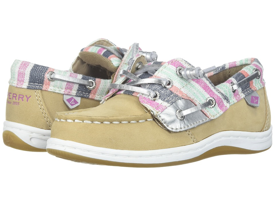 Sperry Kids Songfish Jr. (Toddler/Little Kid) (Sparkle Stripe) Girl's Shoes