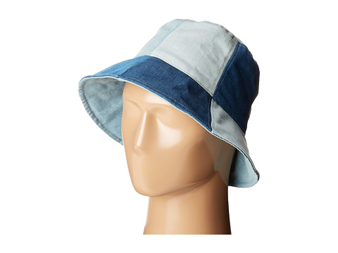 BCBGMAXAZRIA Denim Bucket Hat - Denim Multi