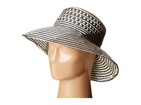 BCBGMAXAZRIA Oversized Straw Bucket Hat - Black