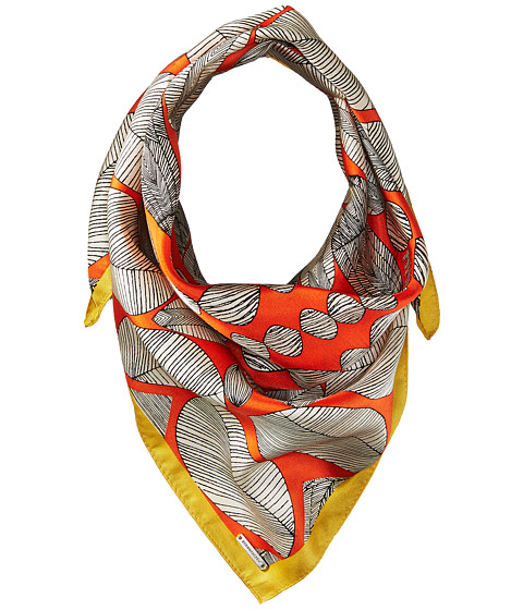 BCBGMAXAZRIA Tribal Shield Square Scarf - Orange