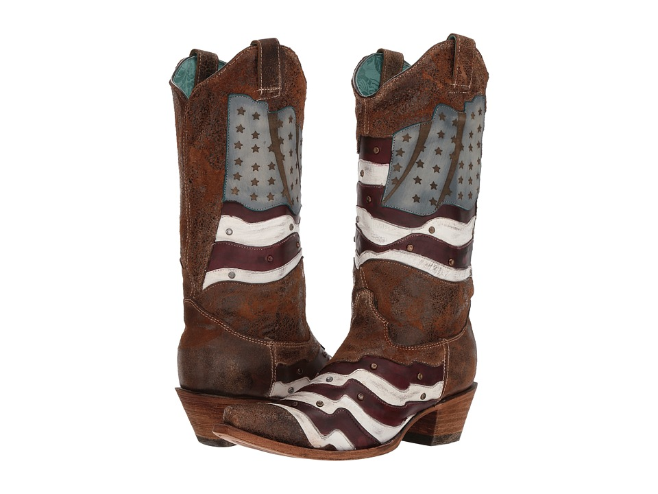 Corral Boots - C3222 (Sand/Multi) Cowboy Boots