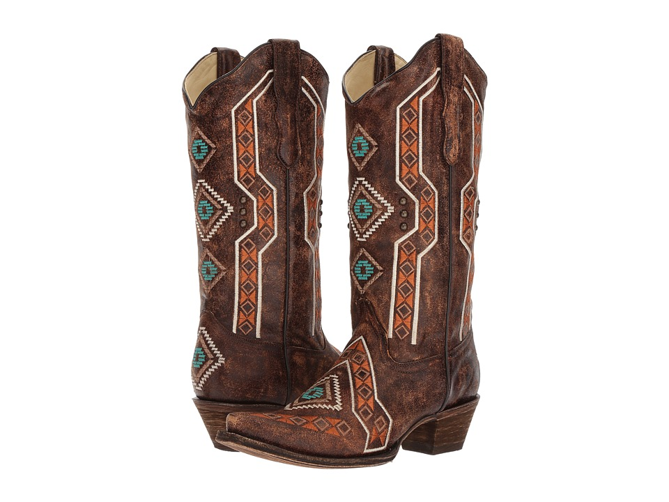 Corral Boots E1178 (Brown) Cowboy Boots