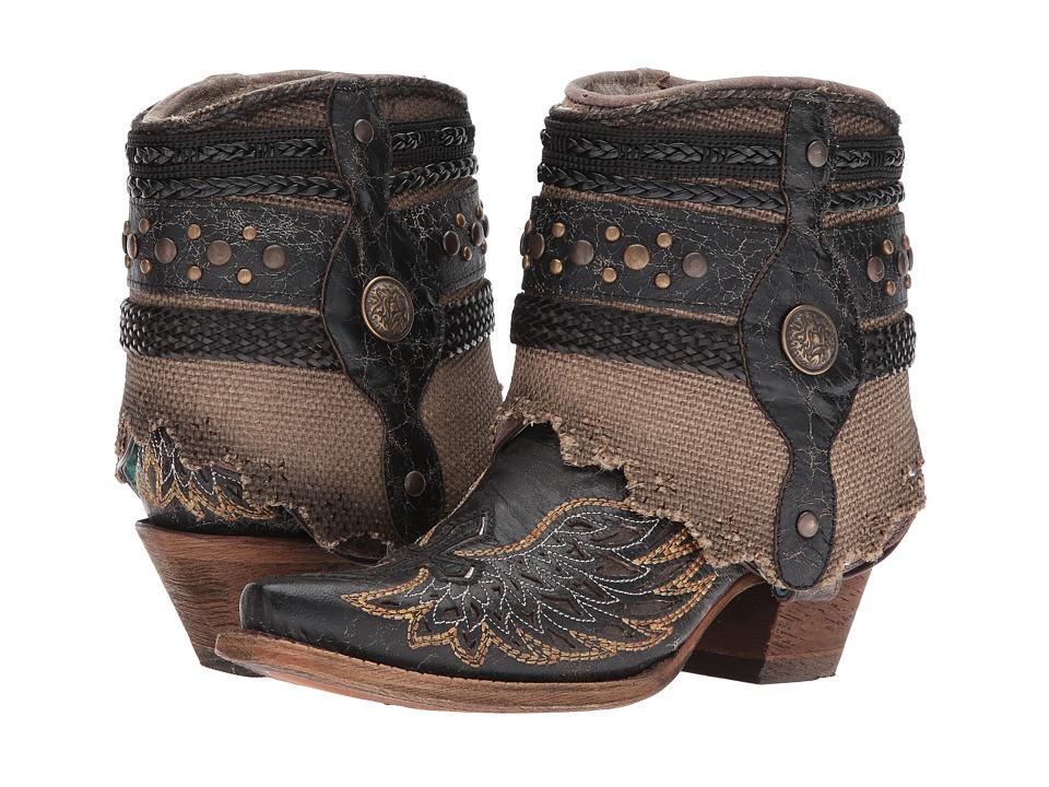 Corral Boots - A3461 (Black/Bone) Cowboy Boots
