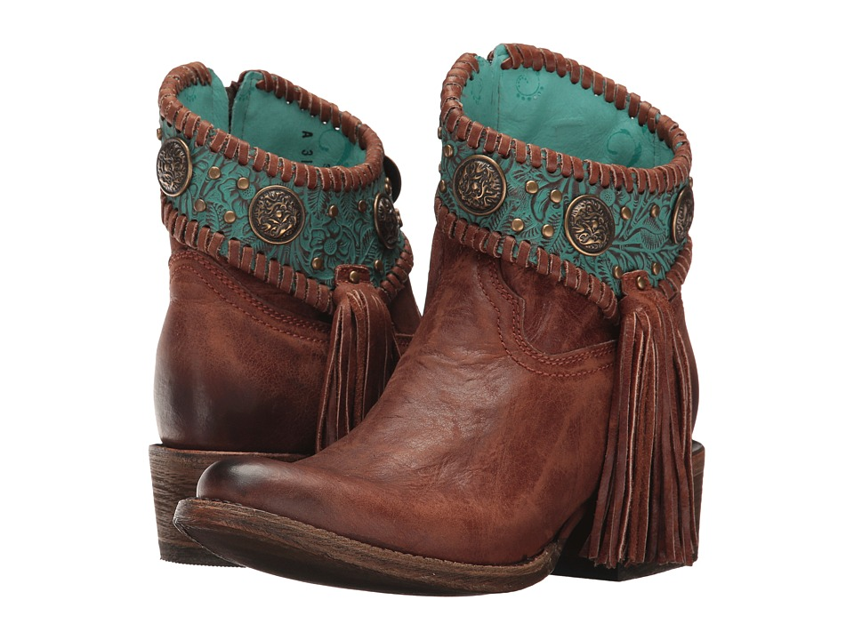 Corral Boots A3196 (Cognac/Turquoise) Cowboy Boots