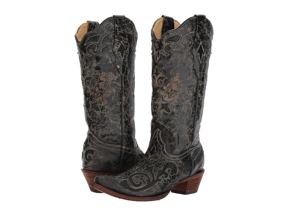 Corral Boots - C1198 (Black) Cowboy Boots