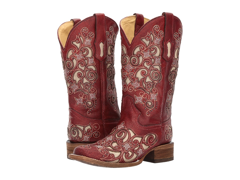 Corral Boots - A3327 (Red) Cowboy Boots